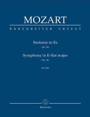 MOZART - Symphony Nr. 39 Es-Dur KV 543 - Partitur - Sheet Music - di-arezzo.co.uk