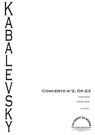 Concerto n° 2 pour Piano KABALEVSKY Partition laflutedepan