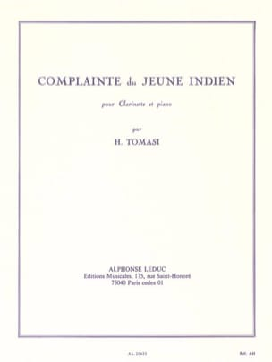 Henri Tomasi - Complaint of the Indian boy - Sheet Music - di-arezzo.co.uk