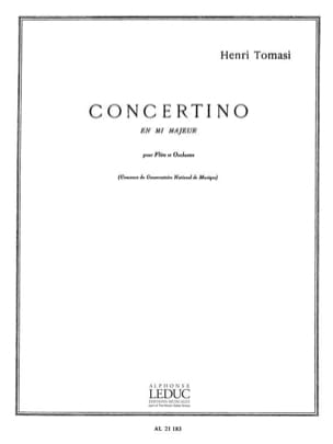 Henri Tomasi - Concertino in E major - Piano Flute - Sheet Music - di-arezzo.co.uk