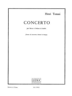 Henri Tomasi - Concerto pour basson - Partition - di-arezzo.fr