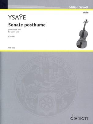 Eugène Ysaÿe - Partition - di-arezzo.co.uk