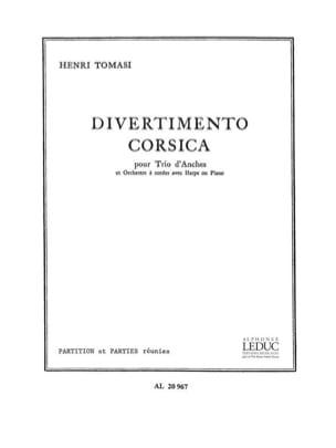 Henri Tomasi - Divertimento corsica - Driver parts - Sheet Music - di-arezzo.com