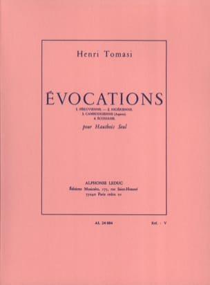 Henri Tomasi - Evocations - Partition - di-arezzo.fr