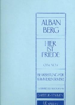 Alban Berg - Hier ist Friede op. 4, Nr. 5 –Partitur + Stimmen - Partition - di-arezzo.fr