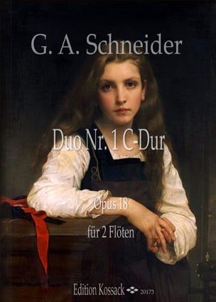 Duo n° 1, op. 18 Georg Abraham Schneider Partition laflutedepan