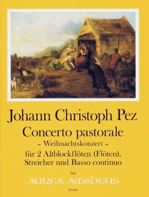 Concerto Pastorale Johann Christoph Pez Partition laflutedepan