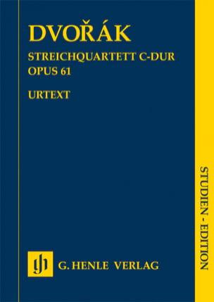 Quatuor à Cordes, opus 61 Antonin Dvorak Partition laflutedepan