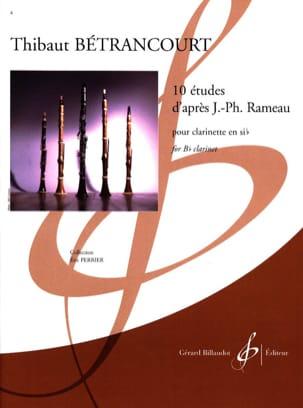 10 études d'après Rameau Thibaut Bétrancourt Partition laflutedepan
