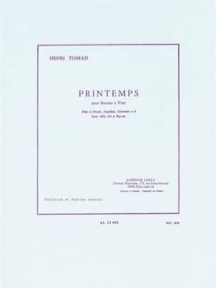 Henri Tomasi - Spring - Wind Sextet - Partition parts - Sheet Music - di-arezzo.co.uk