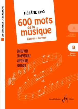 600 mots de la musique - B Hélène Cao Partition laflutedepan