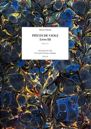 Pièces de Viole - Livre 3 Marin Marais Partition laflutedepan