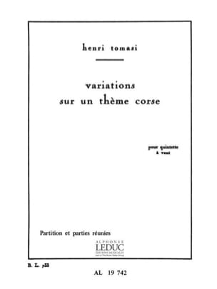 Henri Tomasi - Variations on a Corsican theme - Sheet Music - di-arezzo.com