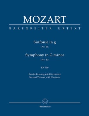 MOZART - Symphony No. 40 g-moll KV 550 2. Fassung - Partitur - Sheet Music - di-arezzo.co.uk