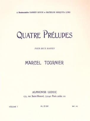 Marcel Tournier - 4 Préludes - Volume 1 n° 1-2 - Partition - di-arezzo.fr