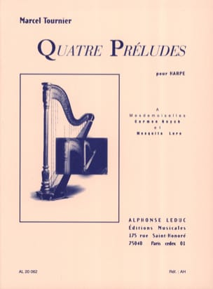 Marcel Tournier - 4 Preludes Opus 16 - Sheet Music - di-arezzo.co.uk