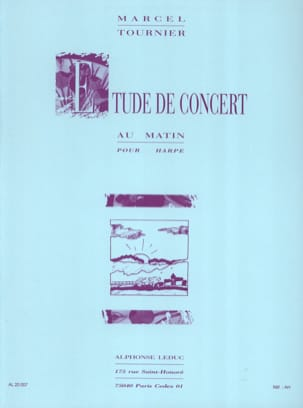 Marcel Tournier - Morning Concert Study - Sheet Music - di-arezzo.co.uk