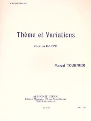 Marcel Tournier - Thème et Variations - Partition - di-arezzo.fr