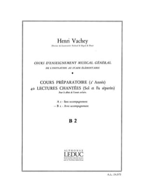 Henri Vachey - 40 Sung readings - B2 2 keys prep. A / A - Sheet Music - di-arezzo.com