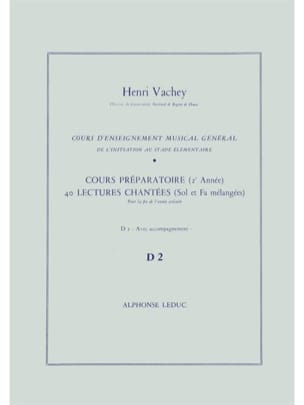 Henri Vachey - 40 Sung readings - D2 2 prep keys. A / A - Sheet Music - di-arezzo.com