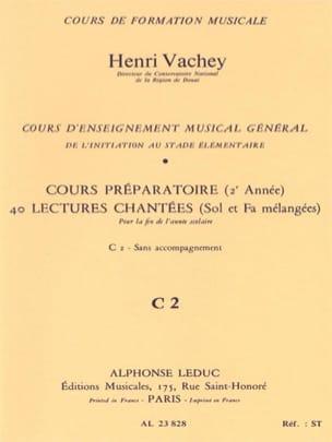 Henri Vachey - 40 Sung readings - C2 2 prep keys. HER - Partition - di-arezzo.com