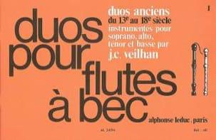 - Duos anciens du 13e au 18e siècle - 2 flûtes à bec - Partition - di-arezzo.fr