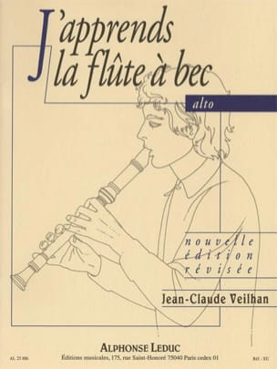 Jean-Claude Veilhan - J'apprends la Flûte à Bec alto - Sheet Music - di-arezzo.co.uk