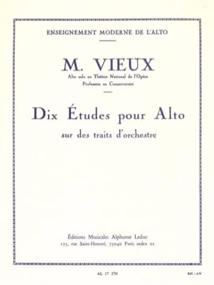 Maurice Vieux - Ten studies on orchestral strokes - Sheet Music - di-arezzo.co.uk