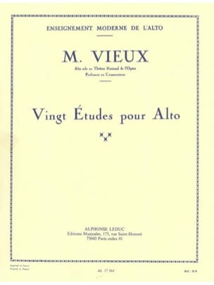 Maurice Vieux - 20 studies for viola - Sheet Music - di-arezzo.co.uk