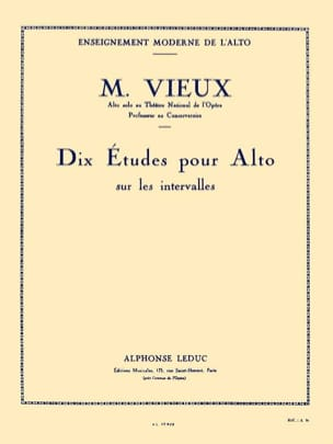 Maurice Vieux - Ten studies on intervals - Sheet Music - di-arezzo.co.uk