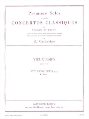 Vieuxtemps Henri / Catherine Georges - 1st Solo of the Concerto n ° 4 op. 31 - Sheet Music - di-arezzo.com