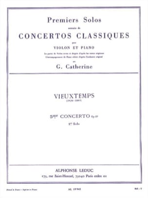 Vieuxtemps Henri / Catherine Georges - 1st Solo of the Concerto n ° 5 op. 37 - Sheet Music - di-arezzo.com