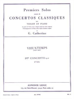 Vieuxtemps Henri / Catherine Georges - 1er Solo du Concerto n° 5 op. 37 - Partition - di-arezzo.fr