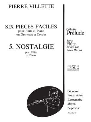 Pierre Villette - 6 Easy Parts 5. Nostalgia - Sheet Music - di-arezzo.com