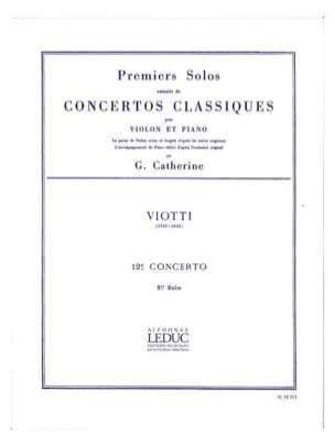 Viotti Giovanni Battista / Catherine Georges - 1st solo of the Concerto n ° 12 - Sheet Music - di-arezzo.co.uk