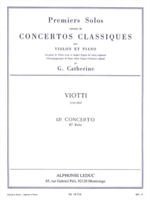 Viotti Giovanni Battista / Catherine Georges - 1st solo of the Concerto n ° 13 - Sheet Music - di-arezzo.com