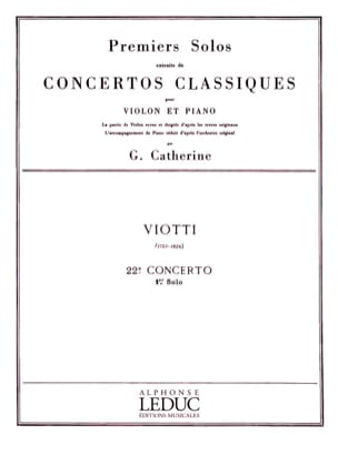 Viotti Giovanni Battista / Catherine Georges - 1st solo of the Concerto n ° 22 - Sheet Music - di-arezzo.co.uk