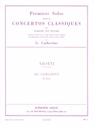 Viotti Giovanni Battista / Catherine Georges - 1st solo of the Concerto n ° 23 - Sheet Music - di-arezzo.com