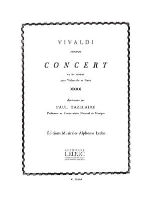 VIVALDI - Concert in E minor - Cello - Sheet Music - di-arezzo.co.uk