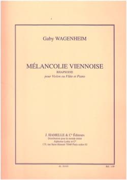 Mélancolie viennoise - Gaby Wagenheim - Partition - laflutedepan.com