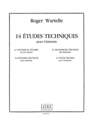Roger Wartelle - 14 Technical Studies - Sheet Music - di-arezzo.co.uk