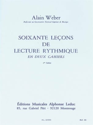 Alain Weber - 60 Rhythm Reading Lessons - Volume 1 - Sheet Music - di-arezzo.co.uk