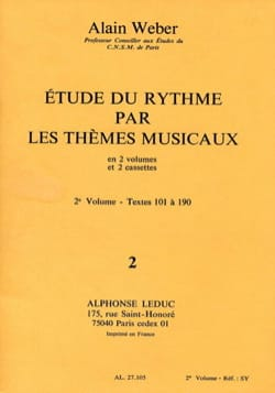 Alain Weber - Study of rhythm by themes - Volume 2 without K7 - Partition - di-arezzo.co.uk
