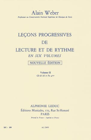Alain Weber - Progressive Lessons of Reading and Rhythm Volume 2 - Sheet Music - di-arezzo.co.uk