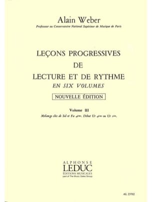 Alain Weber - Progressive Lessons for Reading and Rhythm Volume 3 - Sheet Music - di-arezzo.com