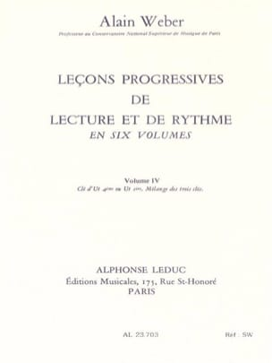 Alain Weber - Progressive Lessons of Reading and Rhythm Volume 4 - Sheet Music - di-arezzo.co.uk