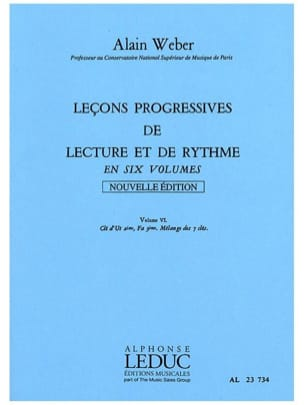Alain Weber - Progressive Lessons for Reading and Rhythm Volume 6 - Sheet Music - di-arezzo.co.uk