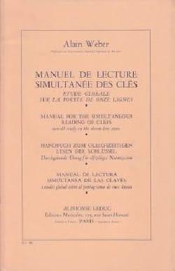 Alain Weber - Manual for simultaneous reading of keys - Sheet Music - di-arezzo.com
