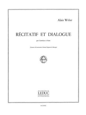 Alain Weber - Recitative and Dialogue - Sheet Music - di-arezzo.co.uk