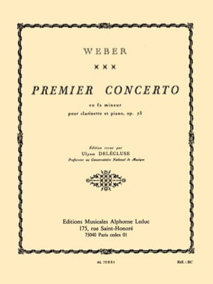 Carl Maria von Weber - Concerto Clarinet in F minor n ° 1 op. 73 - Sheet Music - di-arezzo.com